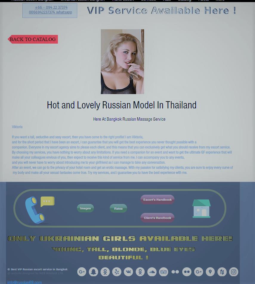 European escort service provider in Bangkok