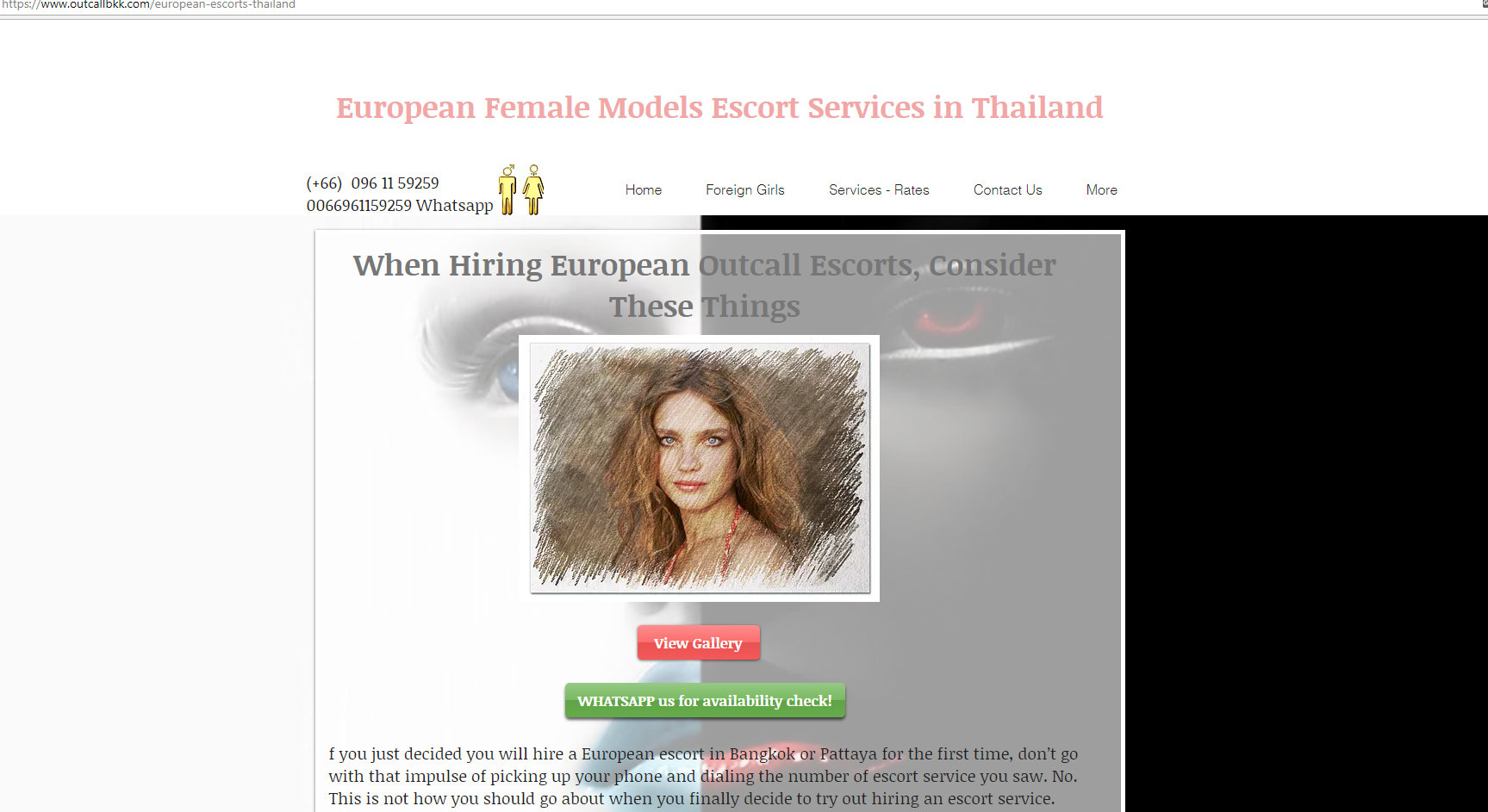 Sculpted European, Russian and Western Escorts in |Bangkok | Welcome to  Best Russian & European Escort Service Provider in |Bangkok