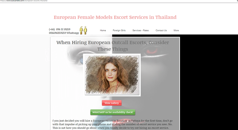 VIP services by Euro girls in Bangkok