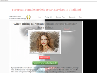 Sculpted European, Russian and Western Escorts in Bangkok and Pattaya