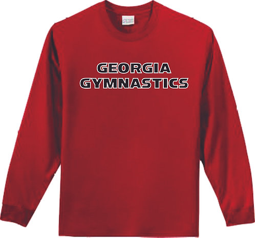 #TSLSR01- Georgia Gymnastics Red Long Sleeve T-Shirt