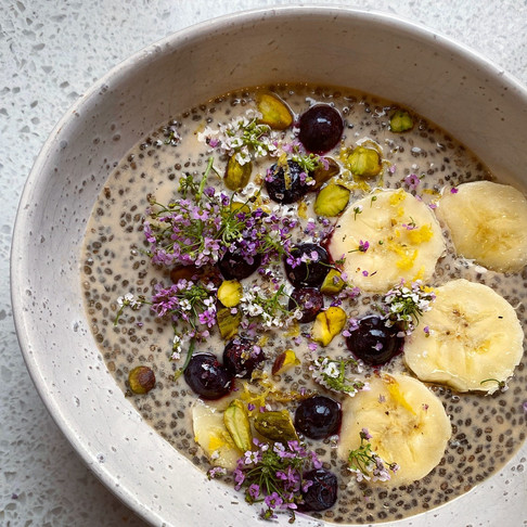 Earl grey chia seed pudding