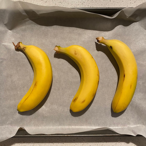 Ripen bananas in the oven, bake-hack