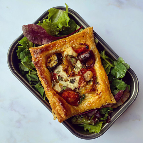 Individual roast vegetable tarts