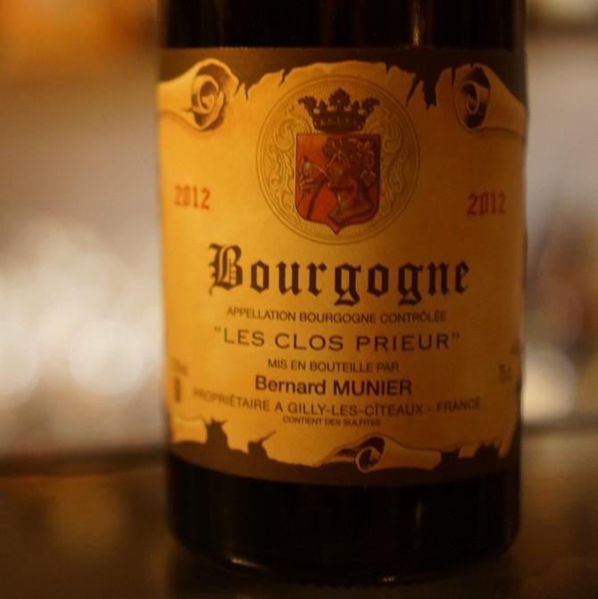 2012 Bourgogne les Clos Prieur Bernard Munier