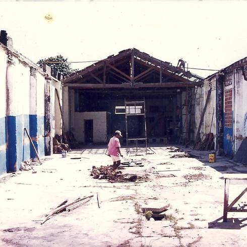 1999 - TDP na José Avelino reforma da nova SEDE na Rua José Avelino 662 - visão do fundo para frente