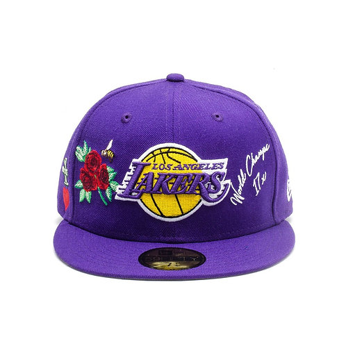 Los Angeles  Lakers Rose Patch Purple