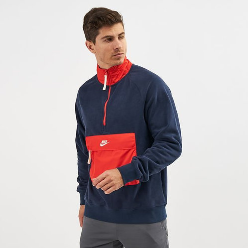 "Nike Sportswear Winterized Mens Half Zip Top ""Blue & Red"""