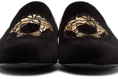 "Versace Medusa Loafers ""Black"""