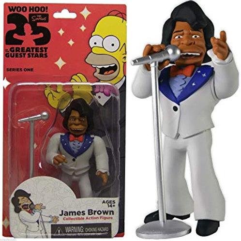 "Simpsons 25 Greatest Guest Stars JAMES BROWN Action Figure 5"" Series 1 NIP"