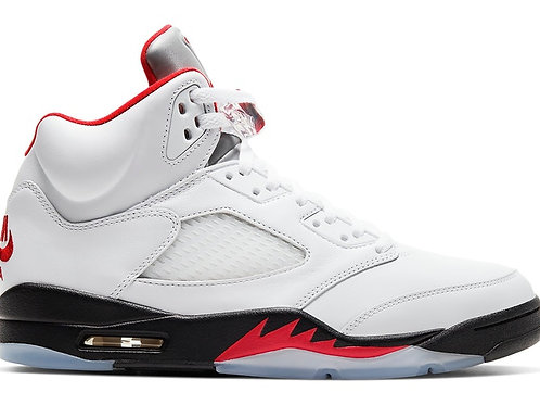 "Air Jordan 5's Retro ""Fire Red"" Silver Tongue 2020"