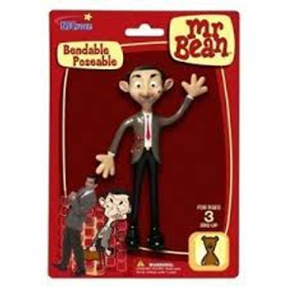 OFFICIAL MR BEAN BENDABLE POSEABLE ROWAN ATKINSON ACTION FIGURE TOY NEW