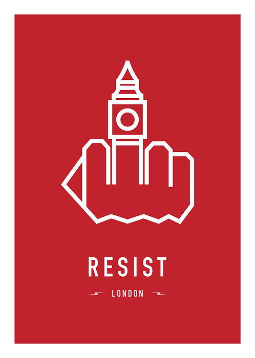 RESIST LONDON 29,7x42cm (A3)