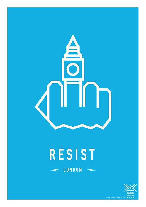RESIST LONDON . (Big Ben Tower)
