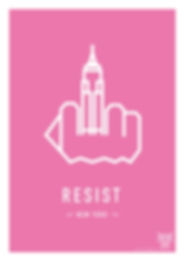 RESIST NEW YORK. EMPIRE STATE BUILDING . Pink . Original Screenprint by ASTERONYME LONDON . Screen printing . Limited editon . 250pcs . Paper 300 gsm Satin . RESIST THE WORLD . Travelling Exhibiton .  Available in the ASTERONYME GALLERY. E1 6Ql 92 Brick Lane, In the Tea Rooms, and on the website. www.asteronyme.co.uk