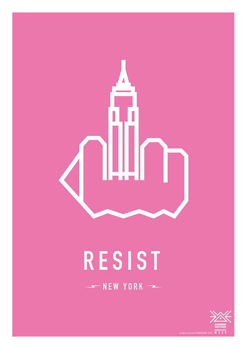 RESIST NEW YORK . (Empire State Building)
