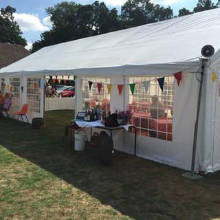 Tea Tent and Raffle prizes