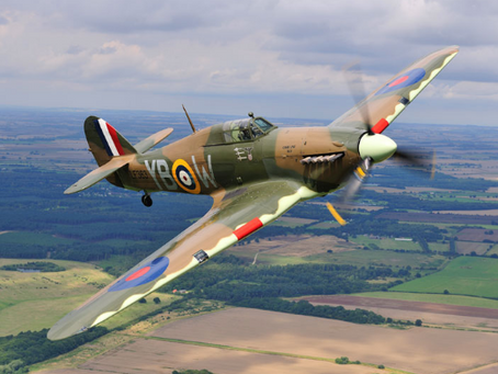 The RAF's Battle of Britain Memorial Flight Aircraft at the Dean and Shelton Country show 2019.