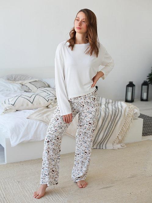 Пижамные штаны Floral