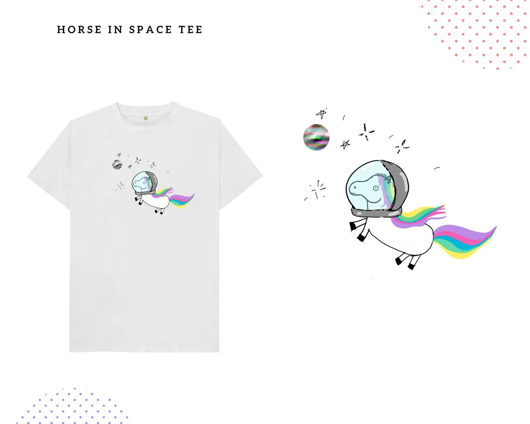 Horse in Space Tee - © Hela Sharkas 2020