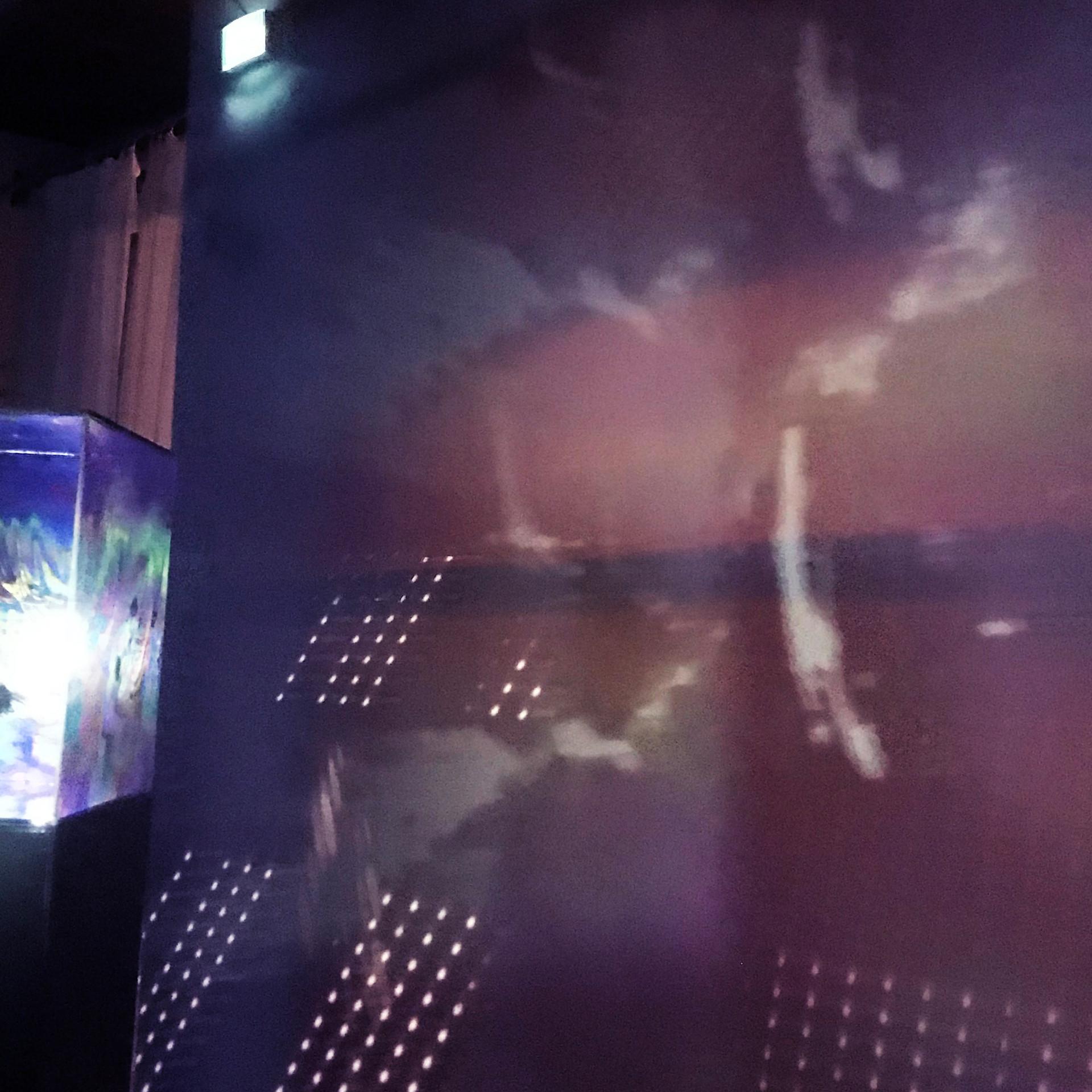 """Lights off effect on """" W i T H i N """" installation"""