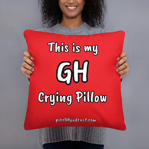 This Is My GH Crying Pillow - Red