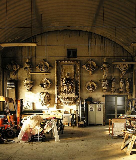 spazi di lavoro Cantiere marmisti del restauro del Duomo di Milano