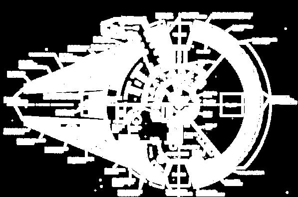 Millennium Falcon plan view blueprint