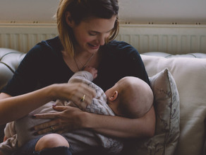 Motherhood Photography South Wales - Breastfeeding Portrait - Amelia & Archie