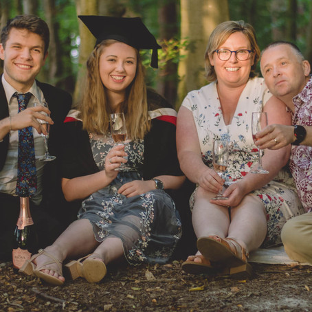 Lifestyle Family Photography South Wales - Fun Family Portraits - Graduation Celebration!