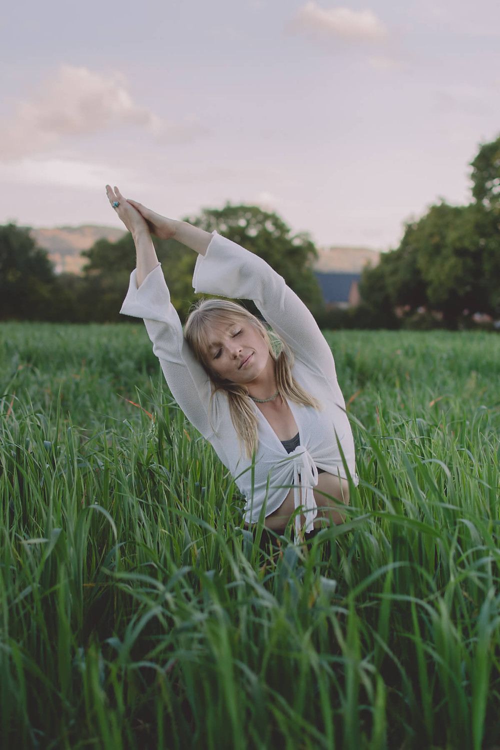 yoga instructor poses flow outdoors nature south wales