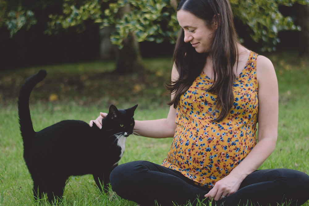How to take pregnancy photos mum to be pet cat south wales
