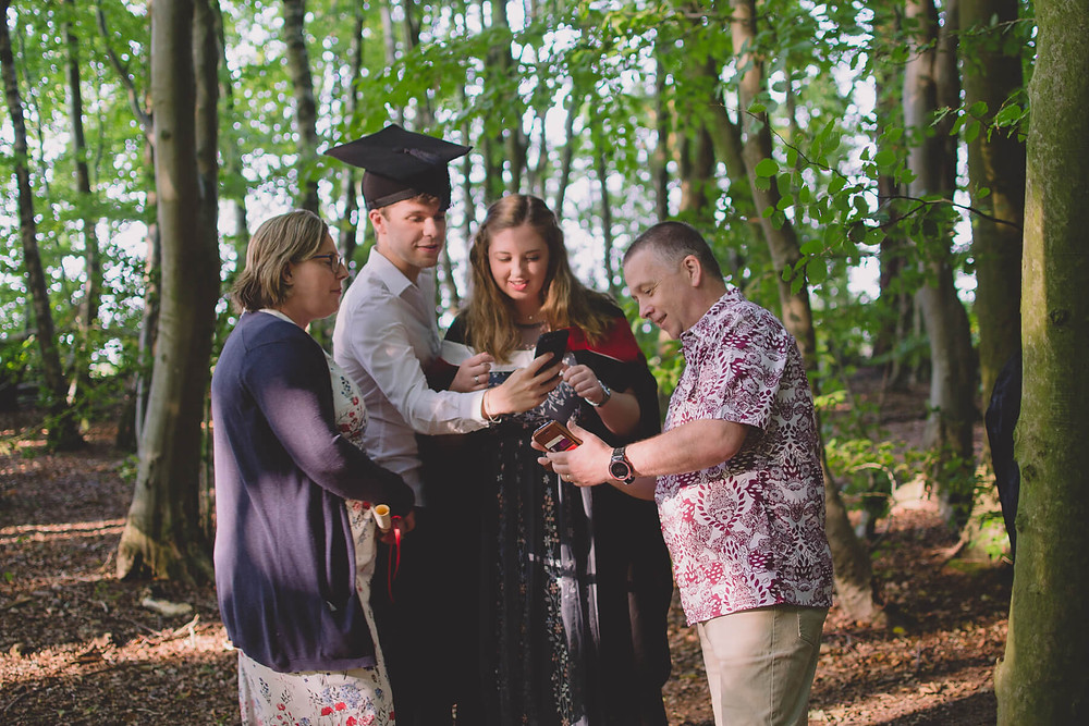 documentary family portrait cap and gown