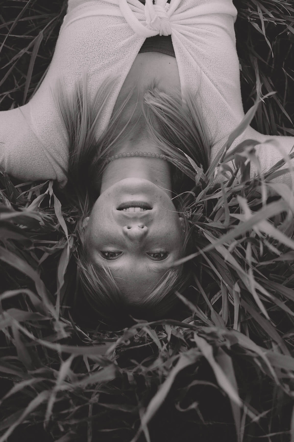 commercial photography south wales woman in long grass