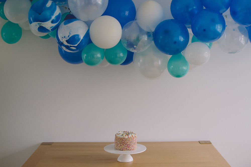 cake smash birthday set up