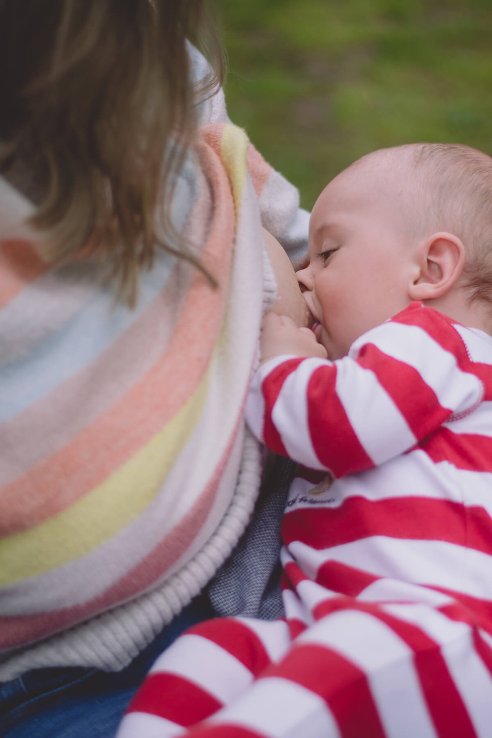 baby nursing on breast motherhood photography south wales
