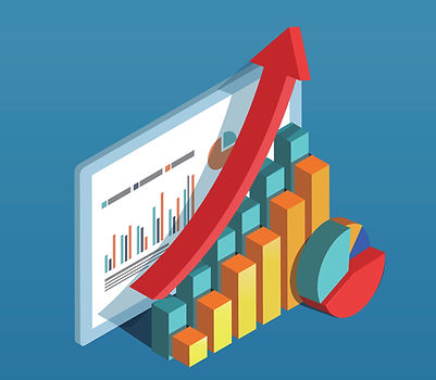 Graphics of business growth & development