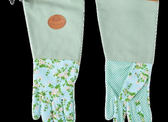 Rose print/jute garden glove long Esschert Design
