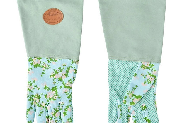 Long Gardening Gloves - Rose Print