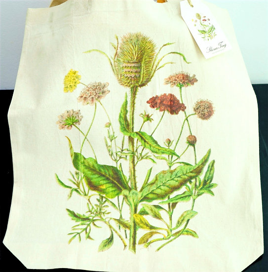 "CottonTote Bag ""plants"""