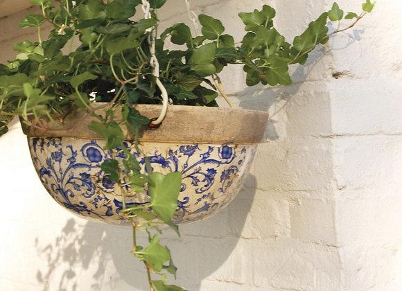 Aged ceramic hanging basket Esschert Design