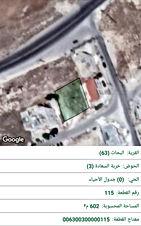 ارض للبيع قرية البحاث حوض خربة السعاد (اراضي نقابة الاطباء في منطقة ابو السوس)  قطعة رقم 115