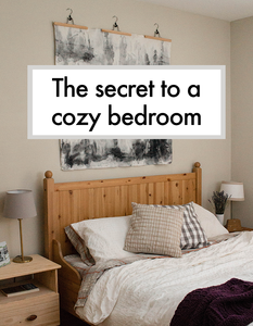 The secret to a cozy bedroom