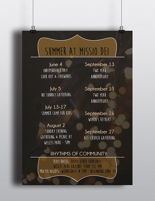 Summer at Missio Dei Poster