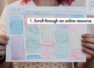 1. Scroll through an online resource.