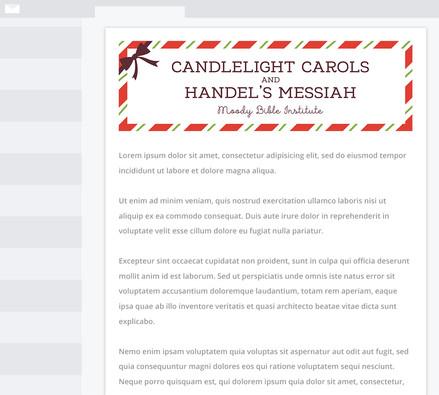 Christmas Program Email