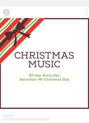 Christmas Radio Social Media Post