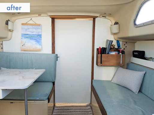 How we renovated our 1971 sailboat (before/after)