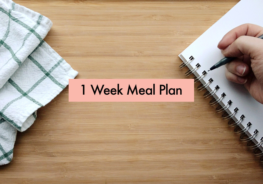 1 Week Meal Plan