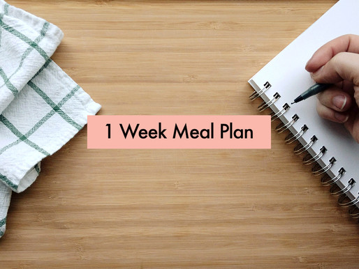1 Week Meal Plan: simple, healthy, slightly adventurous